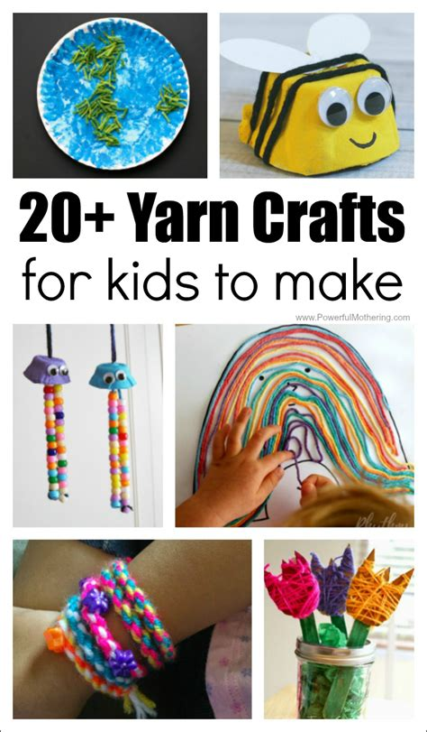 for kindergarteners to make 20 absolutely fantastic yarn crafts for to make
