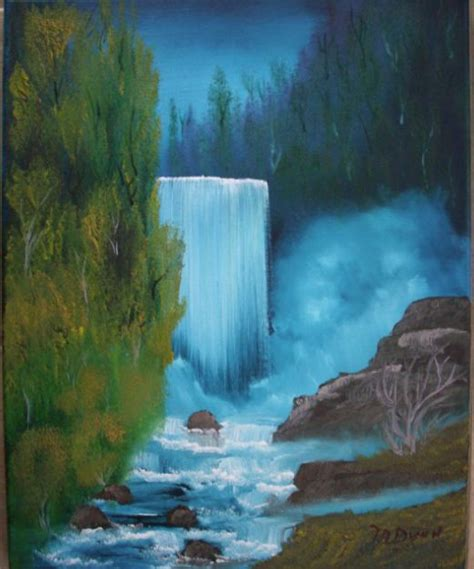 bob ross painting a waterfall bob ross waterfall painting mafiamedia