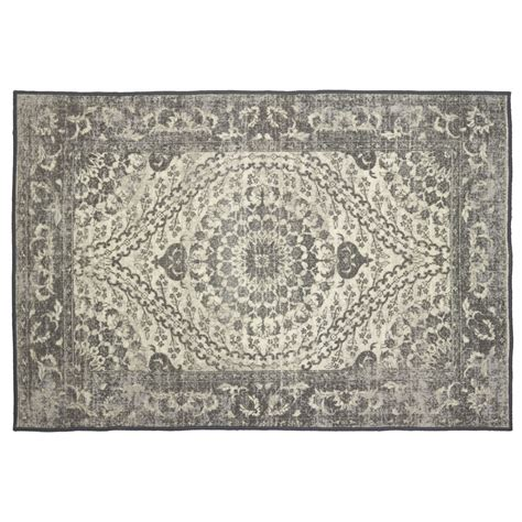Grey Rug Wilko Distressed Rug Grey 120 X 170cm At Wilko