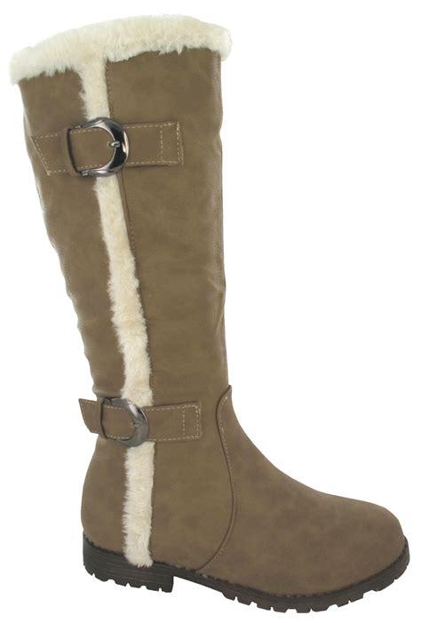 new buckle flat grip snow sole warm winter mid calf