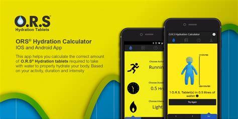 hydration calculator o r s 174 hydration calculator app buck design