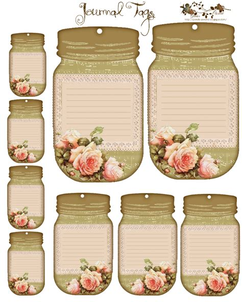 printable tags for jars free journal tags would make good name tags or detail