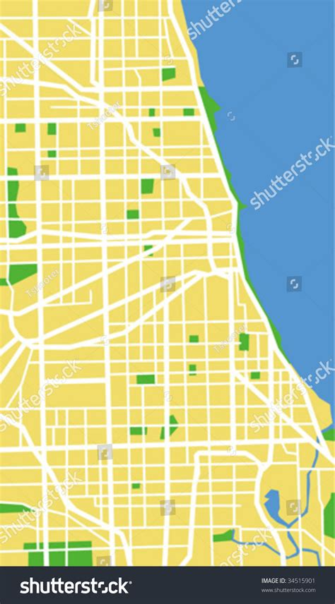 chicago map vector vector map of chicago 34515901