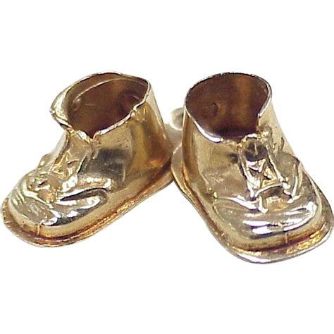 Gold Baby Gold 2 by Vintage 14k Gold Baby Shoes Charm S Circa 1955 Three