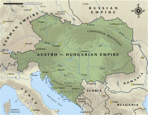 Germany Austria Hungary And The Ottoman Empire The Austro Hungarian Empire