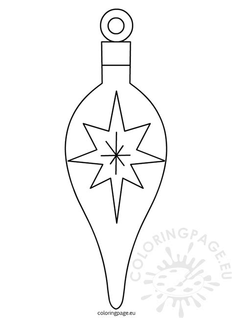 Christmas Tree Ornament Printable Coloring Page Tree Coloring Page With Ornaments