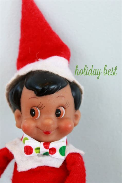 How To Make Clothes For On The Shelf by Holidays Diy On The Shelf Bowtie Mirabelle Creations