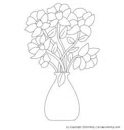 coloring pages of flowers in a vase bunch flower vase coloring page coloring pages