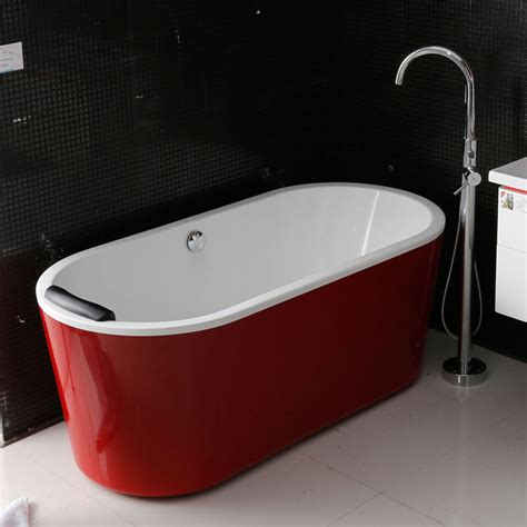 red bathtubs add a touch of class to your bathroom with a freestanding bathtub designer daily