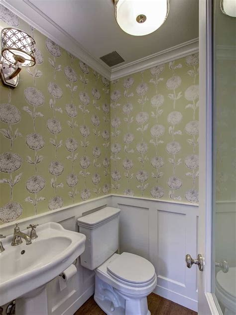Bathroom Wallpaper Patterns Graphic Floral Pattern Wallpaper For Vintage Bathroom Decor 50653 House Decoration Ideas