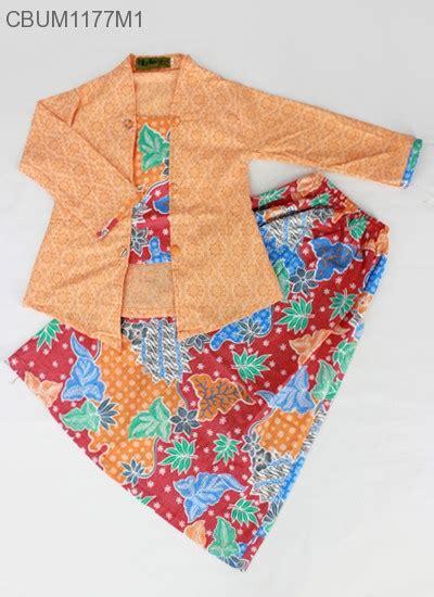 Setelan Kebaya Katun Tarya Orange setelan kebaya anak panjang motif sekar manis setelan murah batikunik