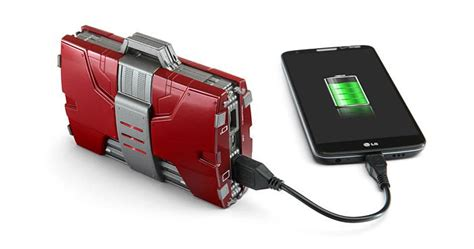 Fossil Tech Novelty Phone Bag Iron iron v armor suitcase une batterie portable de