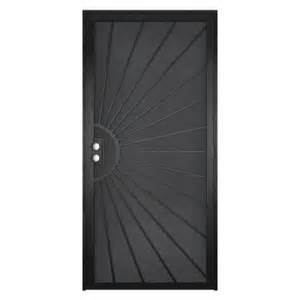 home depot security door unique home designs 36 in x 80 in solana black surface