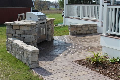 patio with fire pit built in built in grill patio remote fire pit r d landscape
