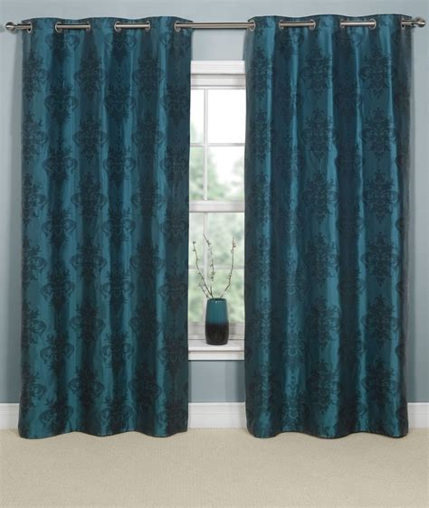 Brown And Teal Curtains Teal And Brown Curtains Office Pinterest