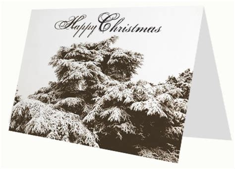 christmas winter scene card