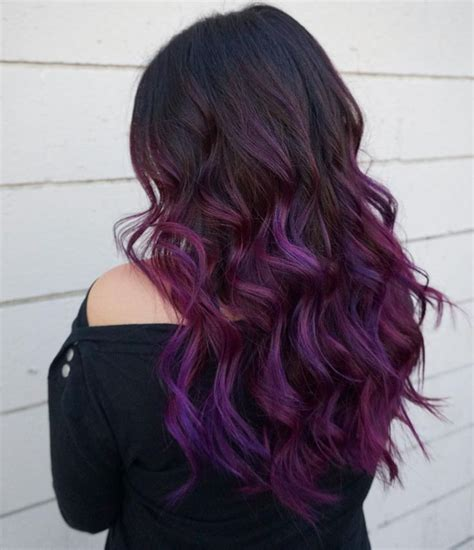 black stacked bob with purple balayage 639 best images about hair styles on pinterest short