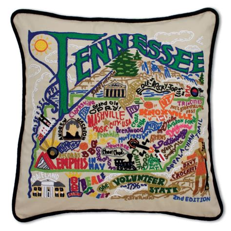 Embroidered State Pillows by Tennessee Embroidered Pillow