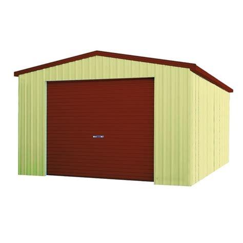 Spanbuilt Sheds by Spanbilt Smartbild Single Garage 4m X 6m X 2 4m Zinc Spanbilt
