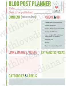 Post Planner Template by 20 Free Printable Planners Fab N Free