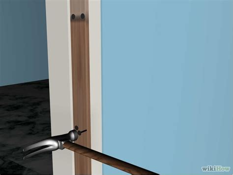 repair door frame how to repair a door frame 7 steps with pictures wikihow