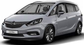 Opel Configurator 2017 Opel Zafira Facelift Leaked In Configurator