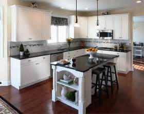 Kitchen Cabinet Colors For Black Countertops Kitchen Cabinets With White Doors Quicua