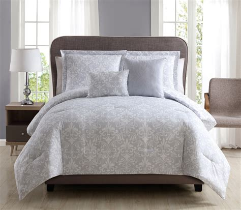 Lilac Comforter Sets by 5 Kendall Lilac Gray Reversible Comforter Set