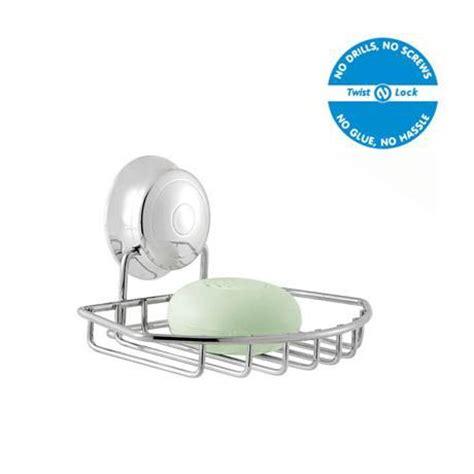 twist and lock bathroom accessories croydex twist n lock soap dish chrome qm341941 at