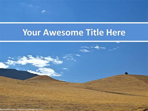 Free Desert Landscape Powerpoint Template Download Free Powerpoint Ppt Desert Powerpoint Background