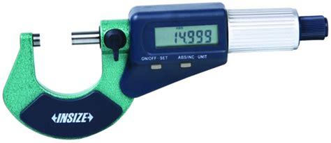 Insize Micrometer 0 25 insize 3109 25e 0 1 inch electronic outside micrometer 0 00005 quot graduation 3109 25e insize