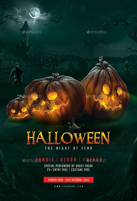 templates for halloween flyers halloween flyer template by doto graphicriver
