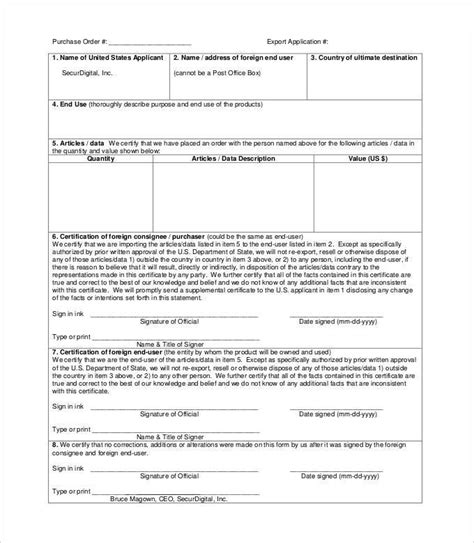 international purchase order template 28 images update