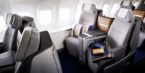 business class seats and photos lufthansa s new flat bed business