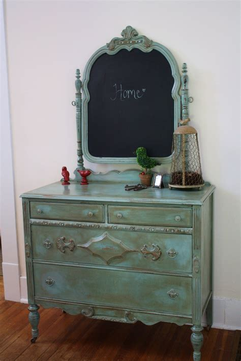 Vintage Bedroom Dressers by Antique Dresser Mirror Flipped And Painted With