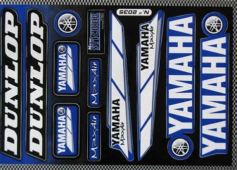 Yamaha Dt Aufkleber Set by Aufkleberset Yamaha Dunlop