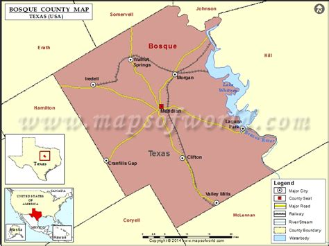 bosque county texas map bosque county map texas