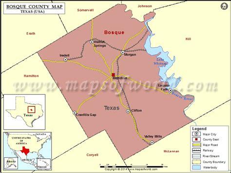 bosque county texas map bosque county map texas