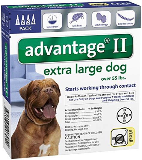 flea treatment for puppies 7 weeks advantage ii large 4 pack flea treatment for dogs