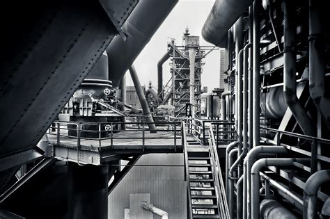 industrial le free stock photo of black and white factory industrial plant