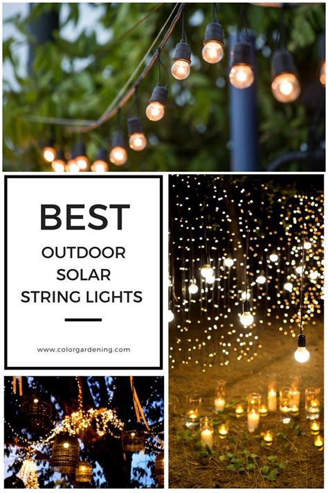 Solar Patio Lights String Best Outdoor Solar String Lights For Patio Outdoor Backyard And