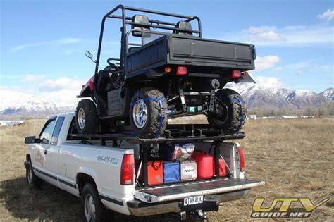 Ultimate Rack Atv getting your utv to the trail in the back of your truck utv weekly utv weekly