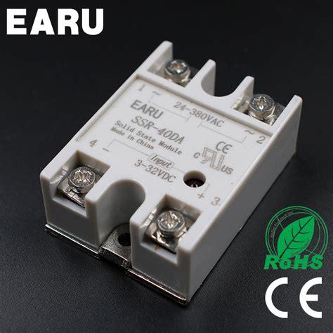 Ssr 40 Dah 1pc ssr 40 da ssr 40da 40a ssr relay input 3 32vdc output 24 380vac for pid temperature