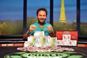 Poker Card Table Daniel Negreanu Wins Wsop Europe High Roller Sixth