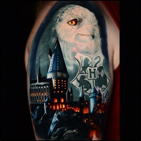 hogwarts castle tattoo harry potter castle owl hogwarts coat of arms best
