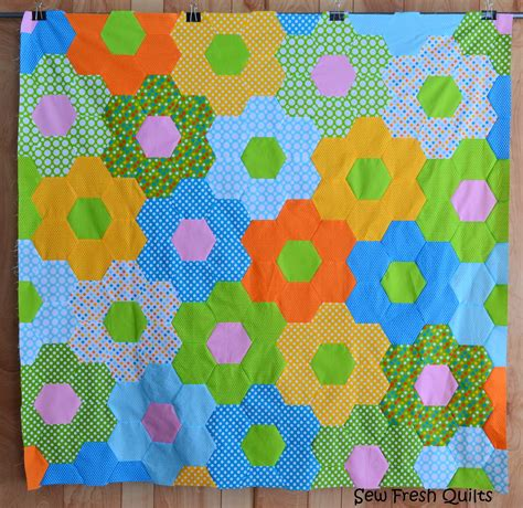 Hexagon Patchwork - sew fresh quilts tutorial for sewing hexagons by machine