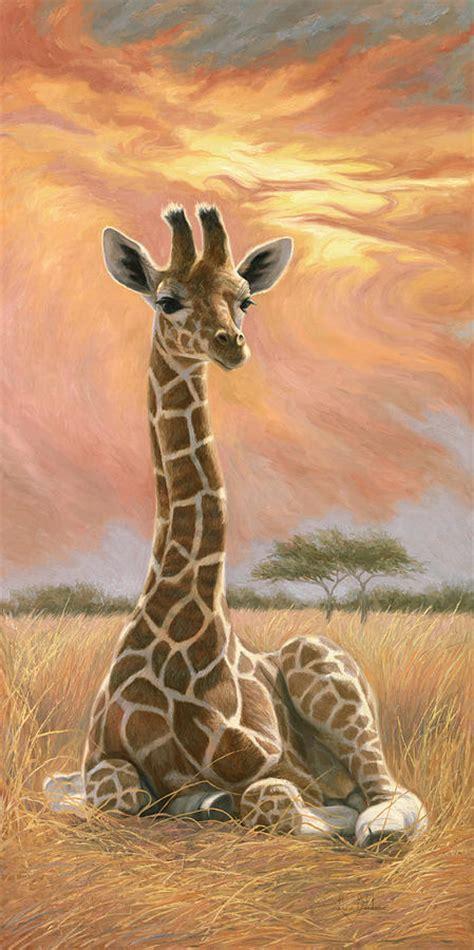 imagenes de jirafas al oleo newborn giraffe painting by lucie bilodeau