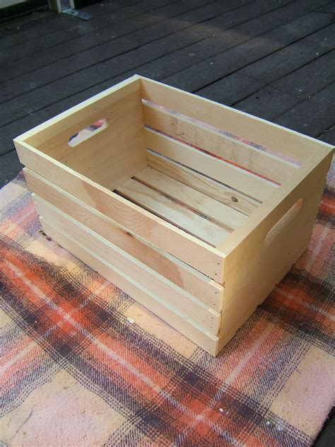 crate end table diy be sure to protect your work surface i used this gorgeous