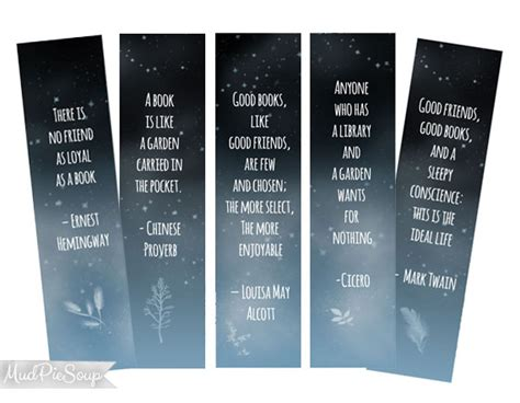 free printable bookmarks with quotes items similar to printable bookmarks inspirational book