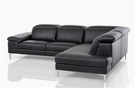 Carnation Modern Black Leather Sectional Sofa Modern Black Sectional Sofa
